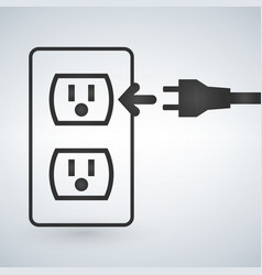 a 110v power outlet isolated on a modern vector image