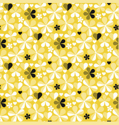 abstract geometric yellow seamless pattern vector image