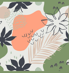 abstract seamless pattern tropic leaves vector image
