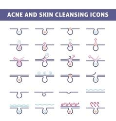 Acne skin care vector