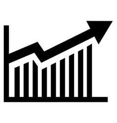 arrow graph icon up and down simple symbol vector image