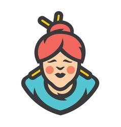 Asian woman cartoon vector