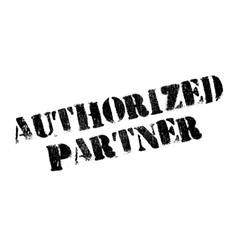 Authorized Partner rubber stamp vector image