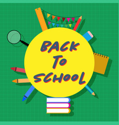 back to school circle vector image