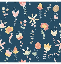 background of flower and plant vector image