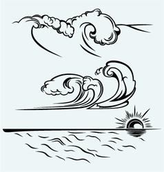 Beautiful ocean wave vector