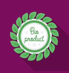 Bio-product icon in flat style isolated on white vector