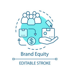 Brand equity concept icon vector