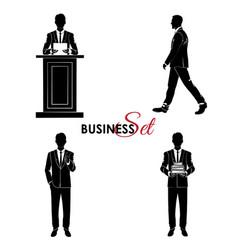 businessman set man in a business suit vector image