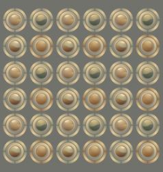 Button mosaic vector