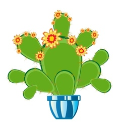 Cactus with flower vector