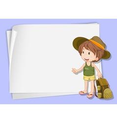 Cartoon Paper Space Boy vector image