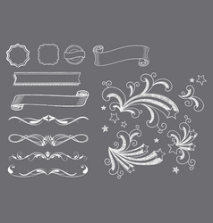 Chalkboard ornaments elements vector