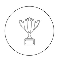 Challenge cup icon in outline style isolated on vector