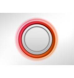 circle red vector image