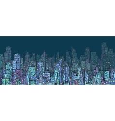 City hand drawn vector