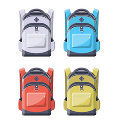 Colorful school backpacks back to school vector