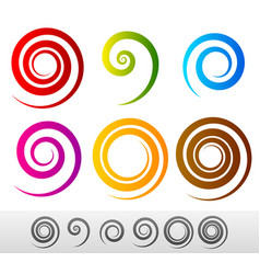 colorful spirals vector image