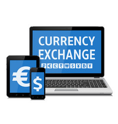 currency exchange concept vector image
