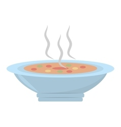 Delicious soup plate food hot vector