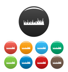 Equalizer audio icons set color vector