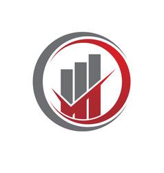finance logo template vector image
