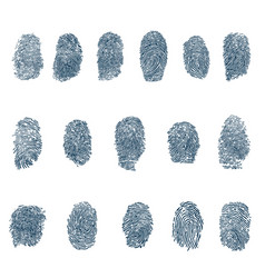 fingerprints set vector image