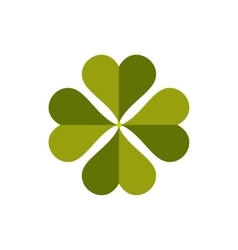 Four-leaf clover flat icon vector image