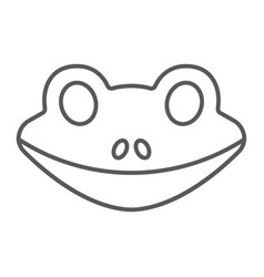 frog thin line icon animal and zoo amphibian vector image