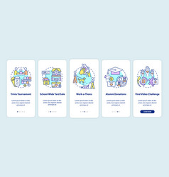 Fundraising appeal ideas onboarding mobile app vector