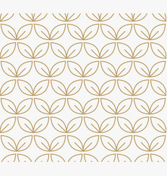 Geometric floral leaf ornament line seamless vector