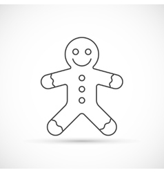 Gingerbread thin line icon vector image