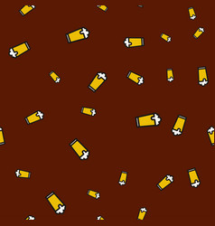 glass beer seamless pattern color vector image