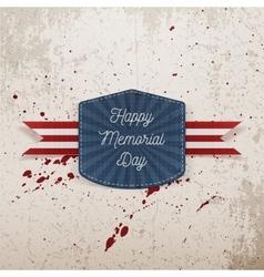Happy Memorial Day greeting Emblem vector
