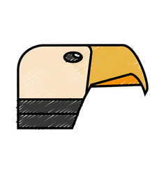 hawk icon image vector image