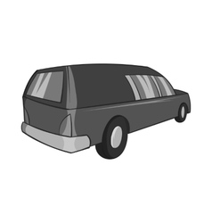 Hearse icon black monochrome style vector