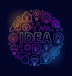 Idea round bright vector