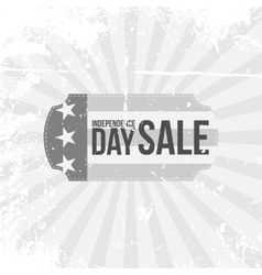 Independence Day 4th of July Sale flat Label vector image
