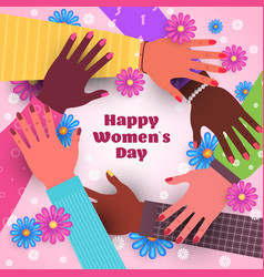 international womens day 8 march holiday vector image