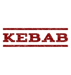 Kebab Watermark Stamp vector