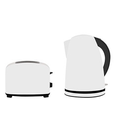 Kettle and toaster vector image