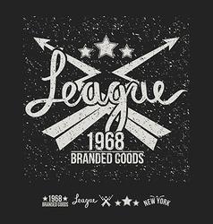 League emblem print and design elements vector