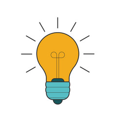 lightbulb flat line icon vector image