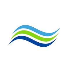 line wave abstract water company logo vector image