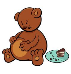 Little bear cartoon character vector
