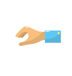 Man hand to business negotiation icon vector