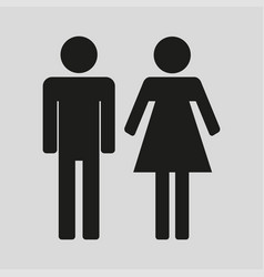 man woman icon with grey background vector image