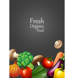 Many vegetables and text design vector image