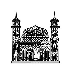 Mosque icon design template vector