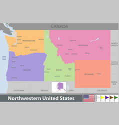 Northwestern of united states vector